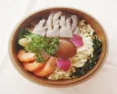 Seafood with noodles  konjak