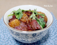Konjac Braised pork in brown sauce