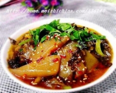 Sour and hot  konjak  Bean curd